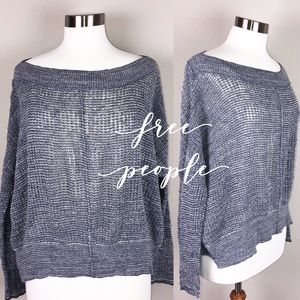 Free people sweater gray & blue